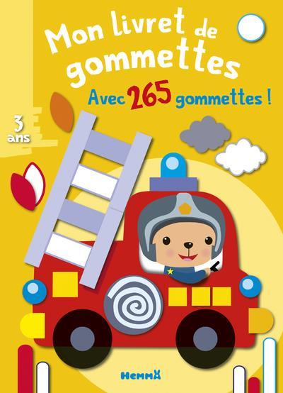 MON LIVRET DE GOMMETTES  -  CAMION DE POMPIER  -  3 ANS