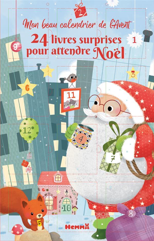 MON BEAU CALENDRIER DE L'AVENT  -  24 LIVRES SURPRISES POUR ATTENDRE NOEL COLLECTIF HEMMA