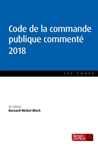 CODE DE LA COMMANDE PUBLIQUE COMMENTE 2018