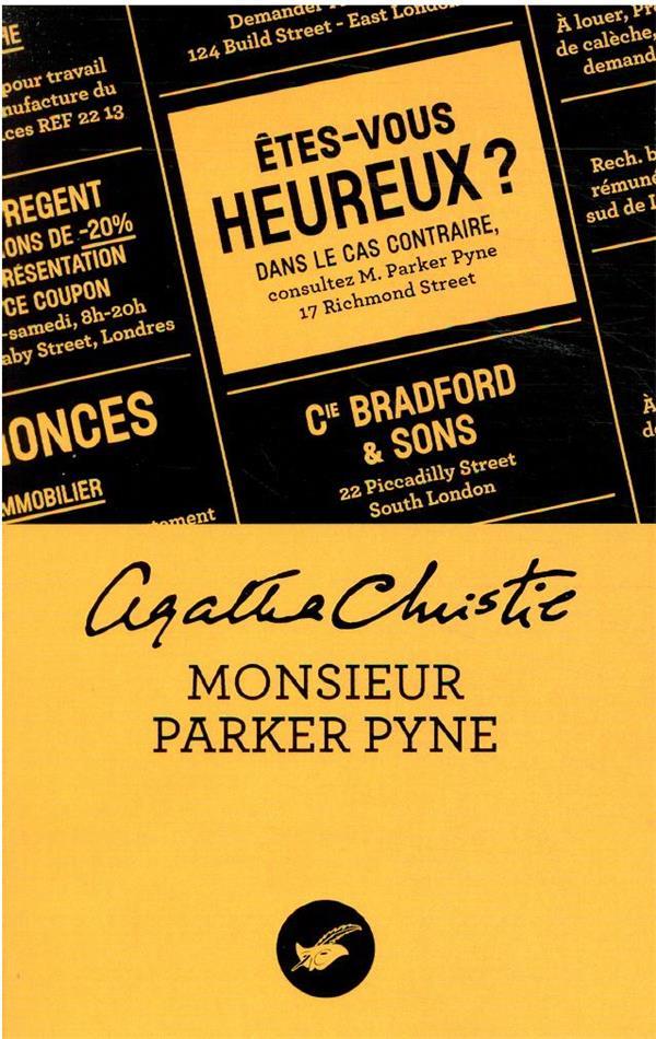 MONSIEUR PARKER PYNE (NOUVELLE TRADUCTION REVISEE) CHRISTIE, AGATHA EDITIONS DU MASQUE