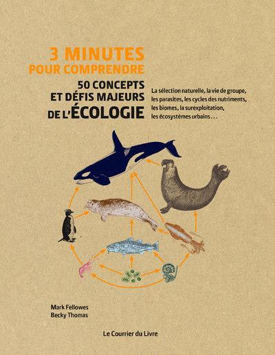 3 MINUTES POUR COMPRENDRE  -  50 CONCEPTS ET DEFIS MAJEURS DE L'ECOLOGIE FELLOWES/THOMAS COURRIER LIVRE