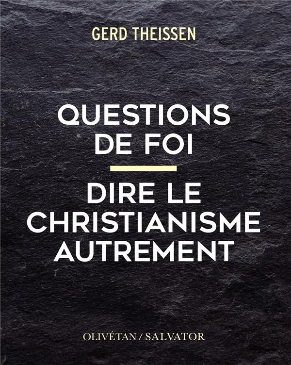 QUESTIONS DE FOI  -  CATECHISME