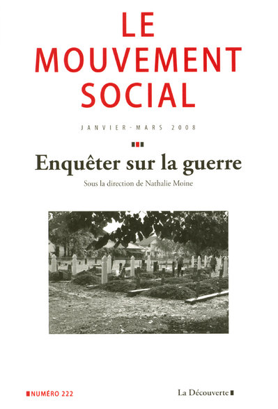 LE MOUVEMENT SOCIAL NUMERO 222 ENQUETER SUR LA GUERRE