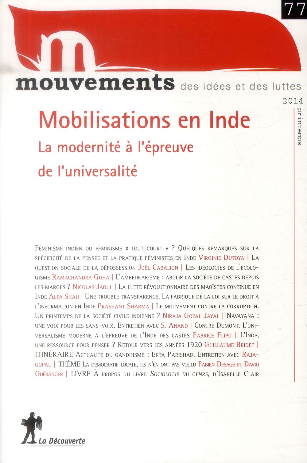 REVUE MOUVEMENTS N77 MOBILISATIONS EN INDE
