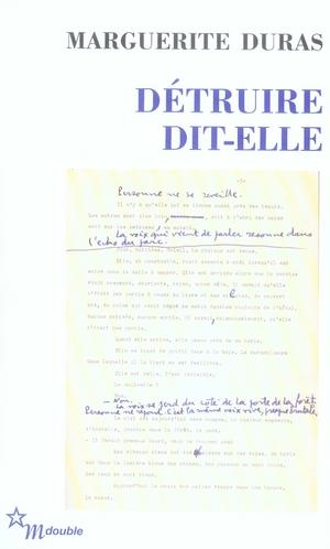 DETRUIRE DIT-ELLE DURAS MARGUERITE MINUIT