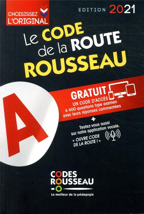 CODE ROUSSEAU  -  LE CODE DE LA ROUTE (EDITION 2021) COLLECTIF MICHELIN