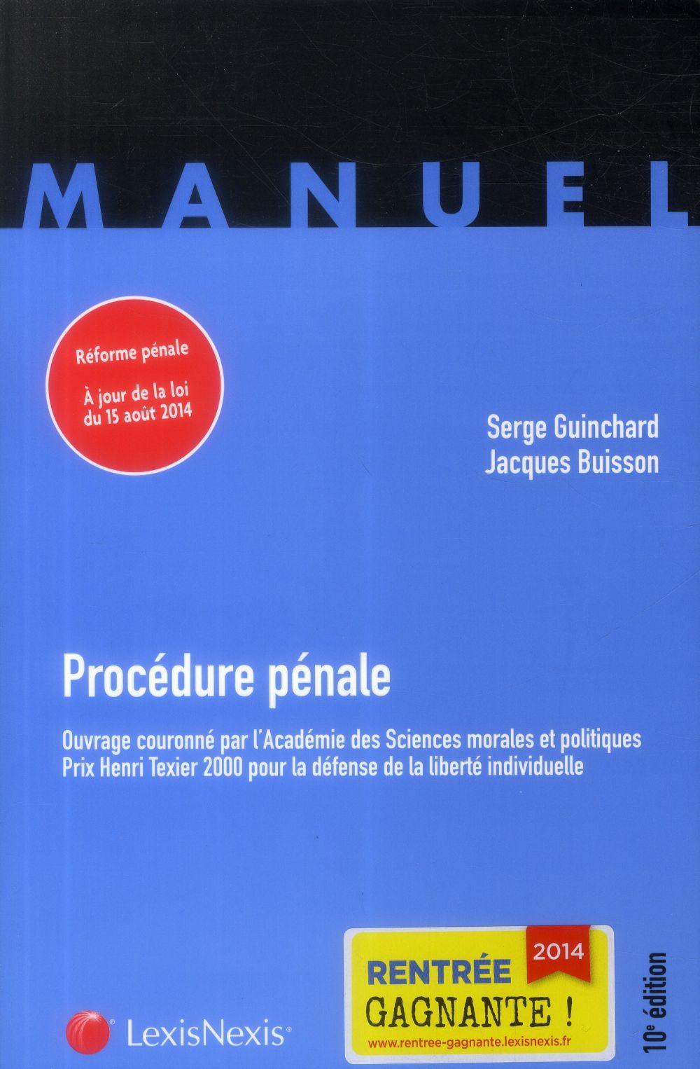 PROCEDURE PENALE MANUEL