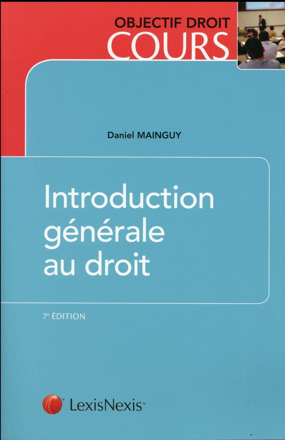 INTRODUCTION GENERALE AU DROIT