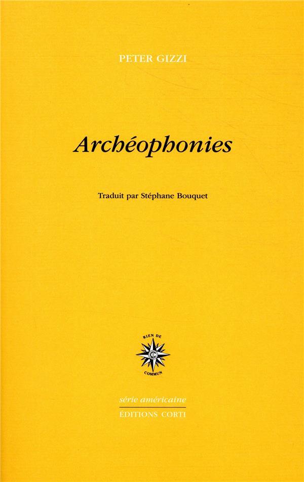 ARCHEOPHONIE