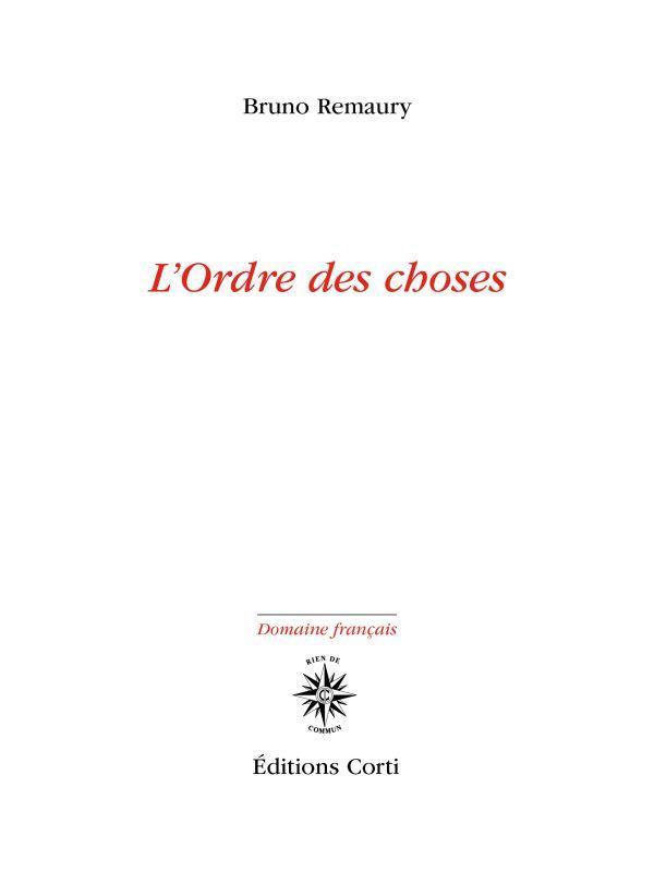 L'ORDRE DES CHOSES