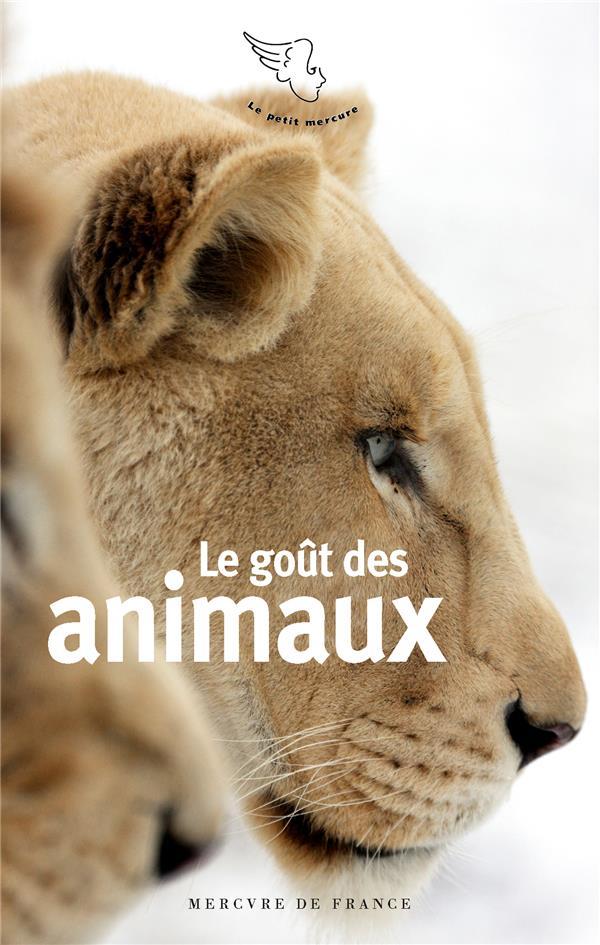 LE GOUT DES ANIMAUX