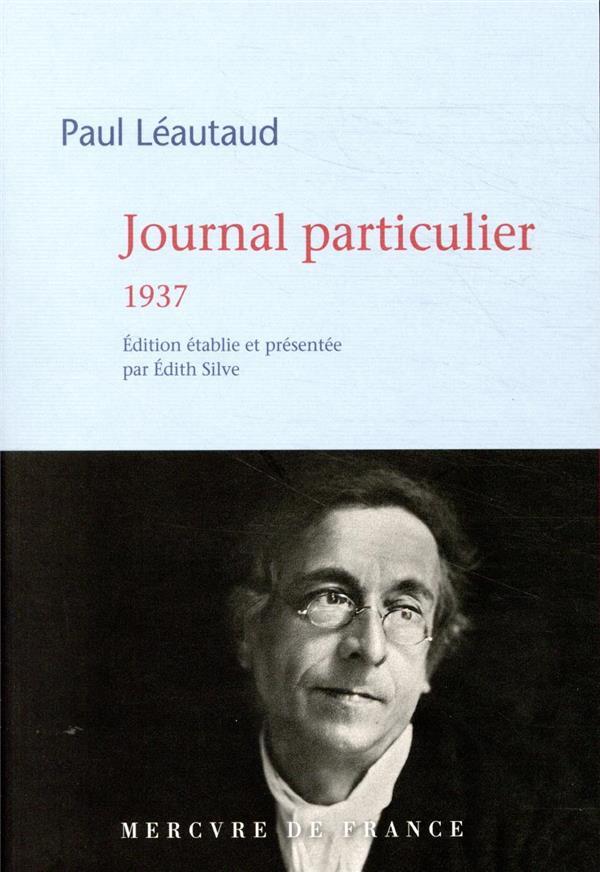 JOURNAL PARTICULIER  -  1937