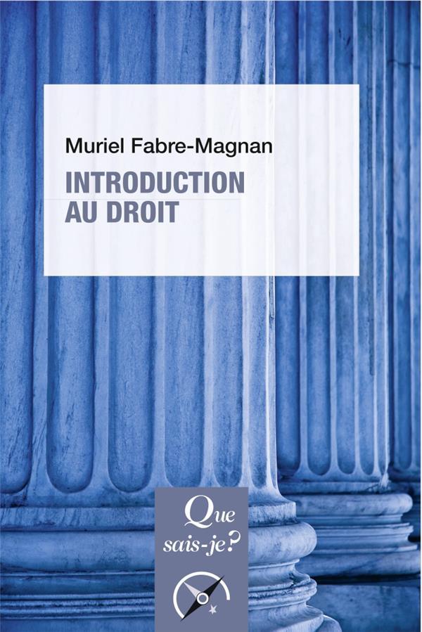 INTRODUCTION AU DROIT (5E EDITION)