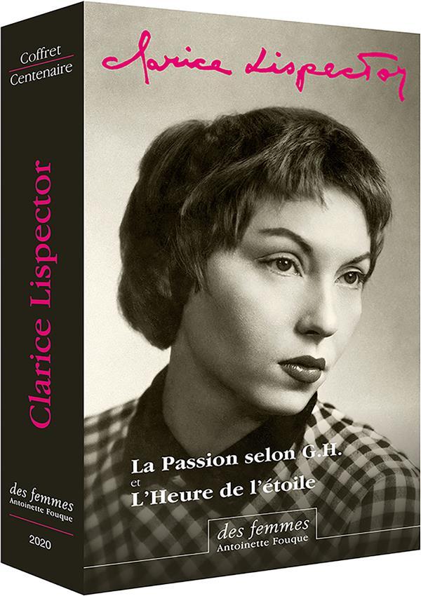 COFFRET CLARICE LISPECTOR EN POCHE - LA PASSION SELON G.H. - L HEURE DE L ETOILE + LIVRET ILLUSTRE