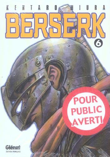 BERSERK T.6 MIURA KENTARO Glénat