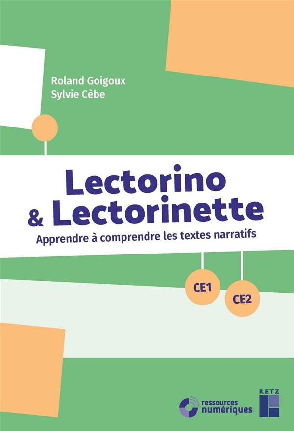 LECTORINO ET LECTORINETTE CE1 CE2 + CD ROM + TELECHARGEMENT
