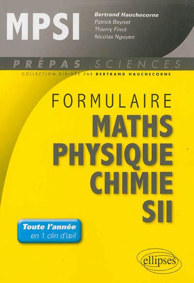 Nguyen Nicolas - FORMULAIRE  MATHEMATIQUES - PHYSIQUE-CHIMIE -SII - MPSI