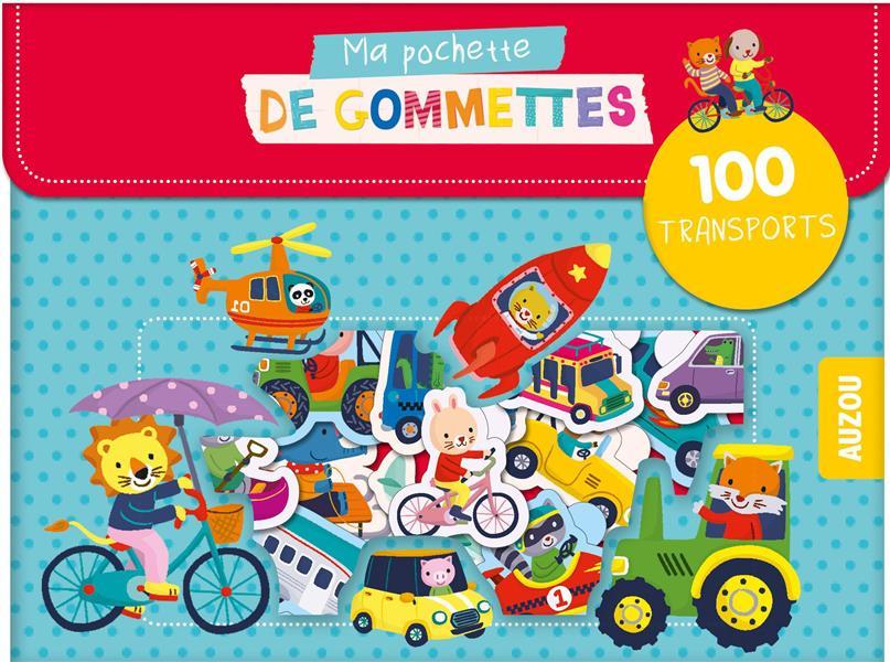 MA POCHETTE DE GOMMETTES - 100 GOMMETTES  LES TRANSPORTS - 100 TRANSPORTS Ho Jannie Auzou