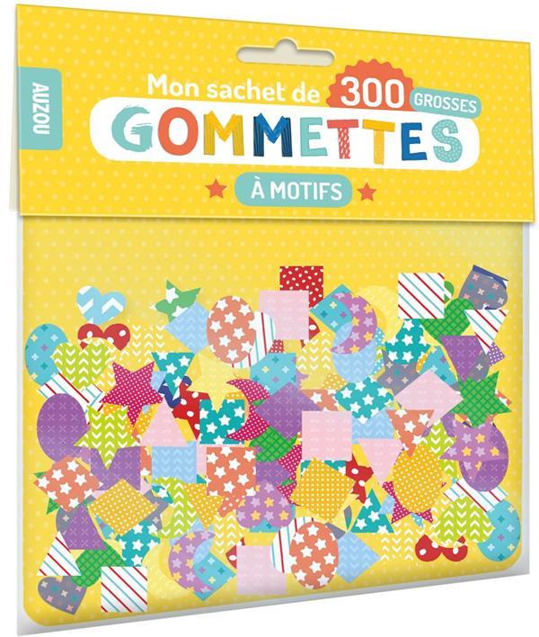 MON SACHET DE 300 GROSSES GOMMETTES  -  A MOTIFS  NC