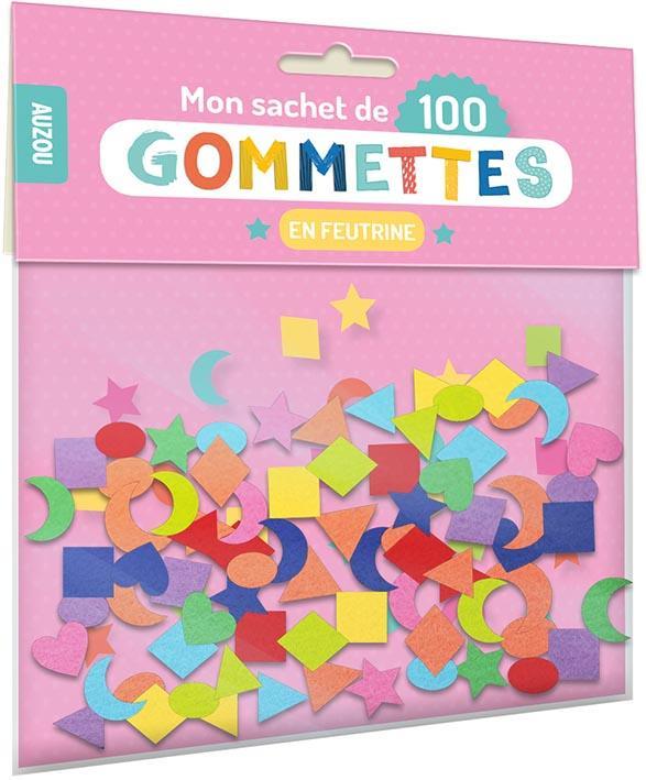 MON SACHET DE 100 GOMMETTES EN FEUTRINE  NC