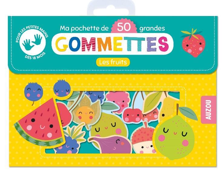 MA POCHETTE DE 50 GRANDES GOMMETTES - LES FRUITS