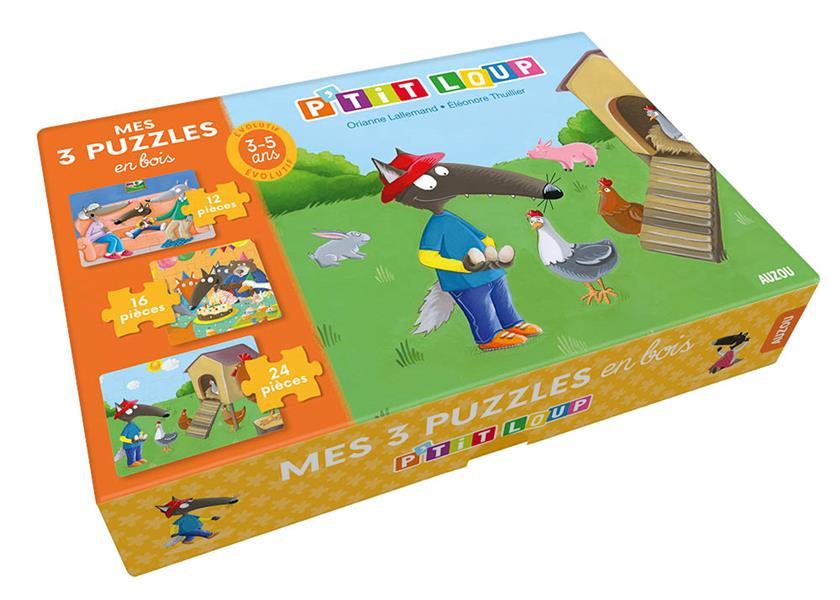 P'TIT LOUP - PUZZLE EN BOIS - CHANCE, ACTION ET FOUS RIRES ! ORIANNE LALLEMAND / NC