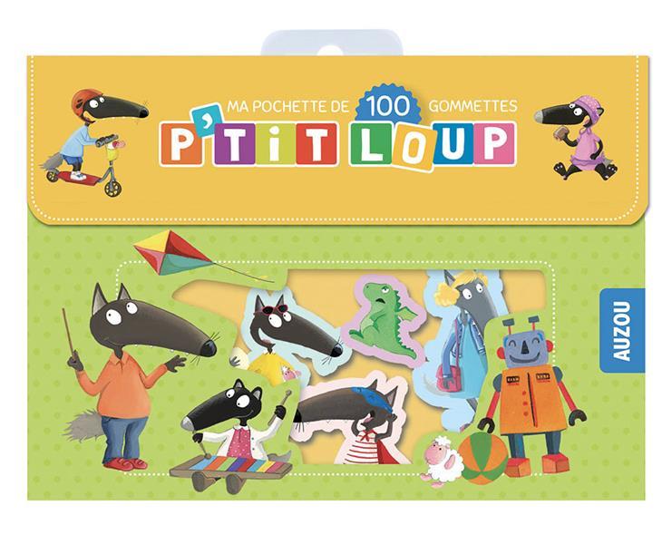 P'TIT LOUP  -  POCHETTE DE 100 GOMMETTES LALLEMAND, ORIANNE  NC