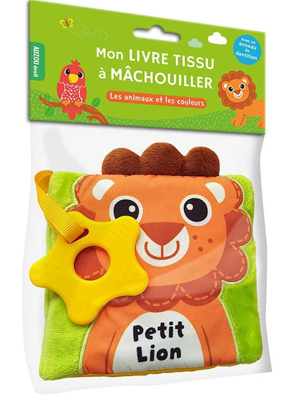 PETIT LION  -  MON LIVRE TISSU A MACHOUILLER COLLECTIF PHILIPPE AUZOU