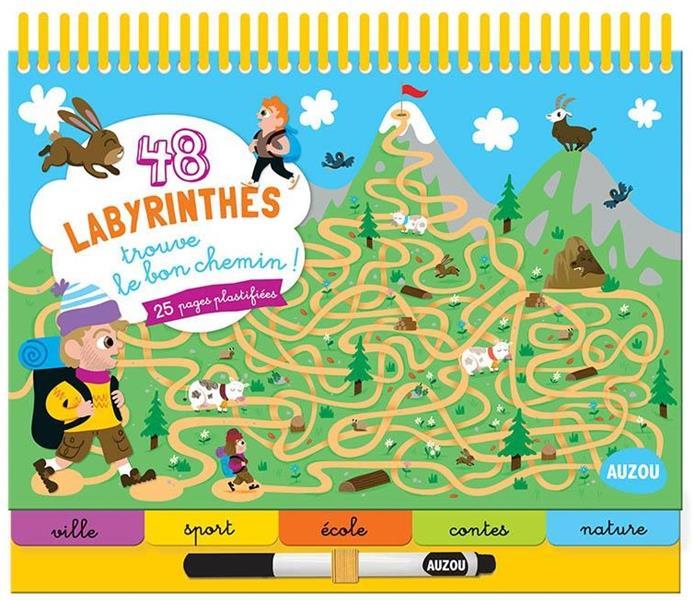 48 LABYRINTHES - TROUVE LE BON CHEMIN !