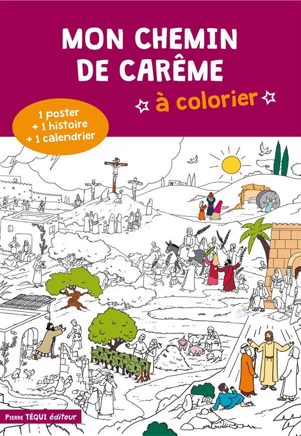 MON CHEMIN DE CAREME A COLORIER