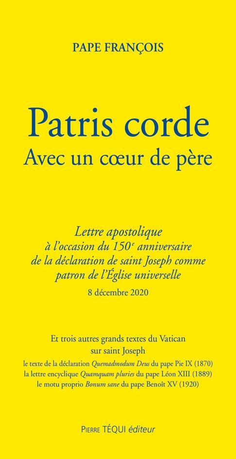 PATRIS CORDE  -  LETTRE APOSTOLIQUE AVEC UN COEUR DE PERE