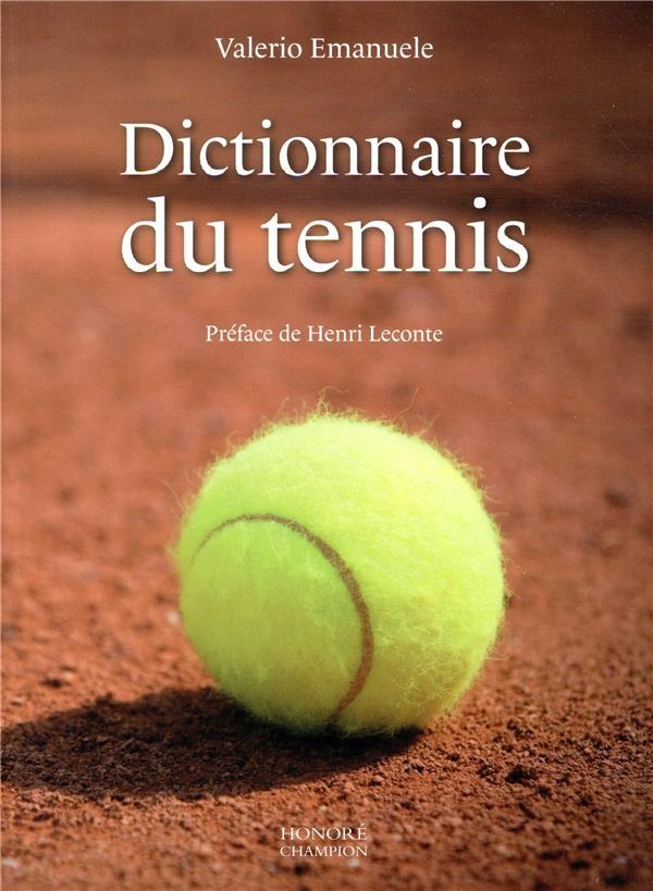 DICTIONNAIRE DU TENNIS  CHAMPION