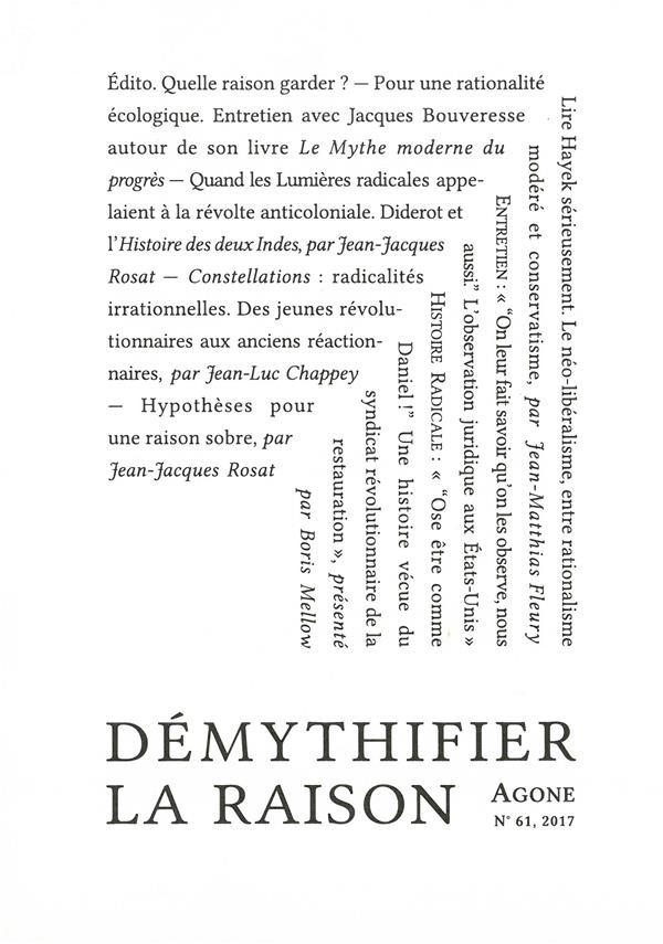 AGONE 61-DEMYTHIFIER LA RAISON
