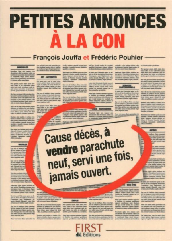 PT LIV DE - PTES ANNONCES A LA Jouffa François First Editions