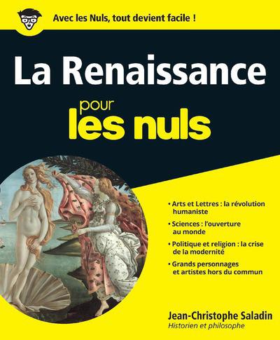 LA RENAISSANCE POUR LES NULS SALADIN/FRECON FIRST