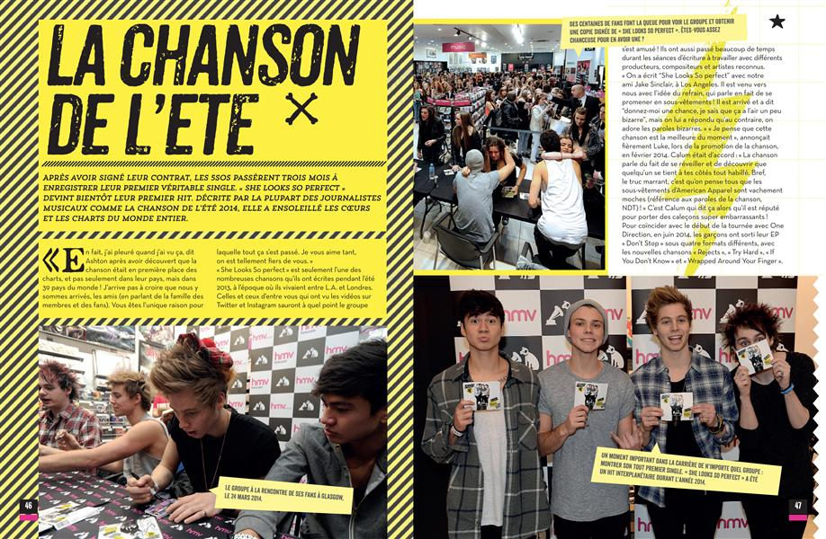 5 SECONDS OF SUMMER  -  LE LIVRE 100% FAN CROFT MALCOLM Hugo Image