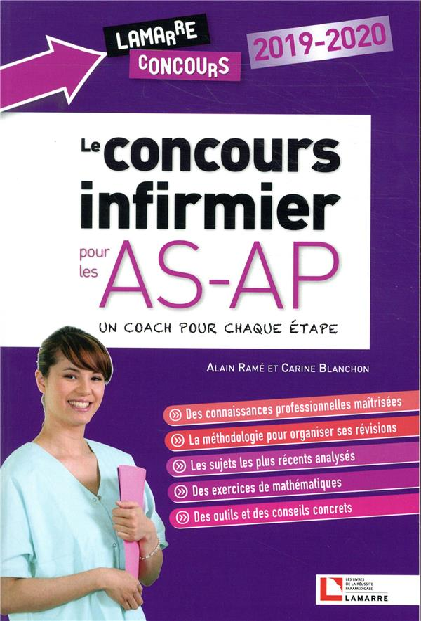 LE CONCOURS INFIRMIER POUR LES AS-AP  2019-2020 - SUIVEZ LE COACH A CHAQUE ETAPE  LAMARRE EDITION