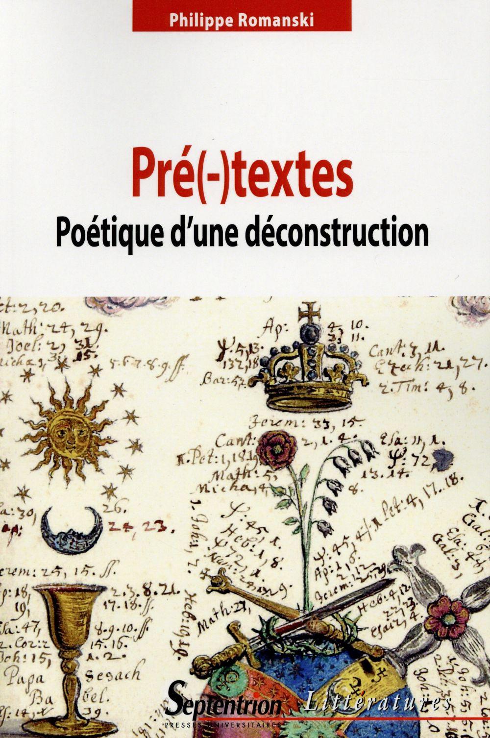 PRE( )TEXTES POETIQUE D'UNE DECONSTRUCTION   POETIQUE D''UNE DECONSTRUCTION
