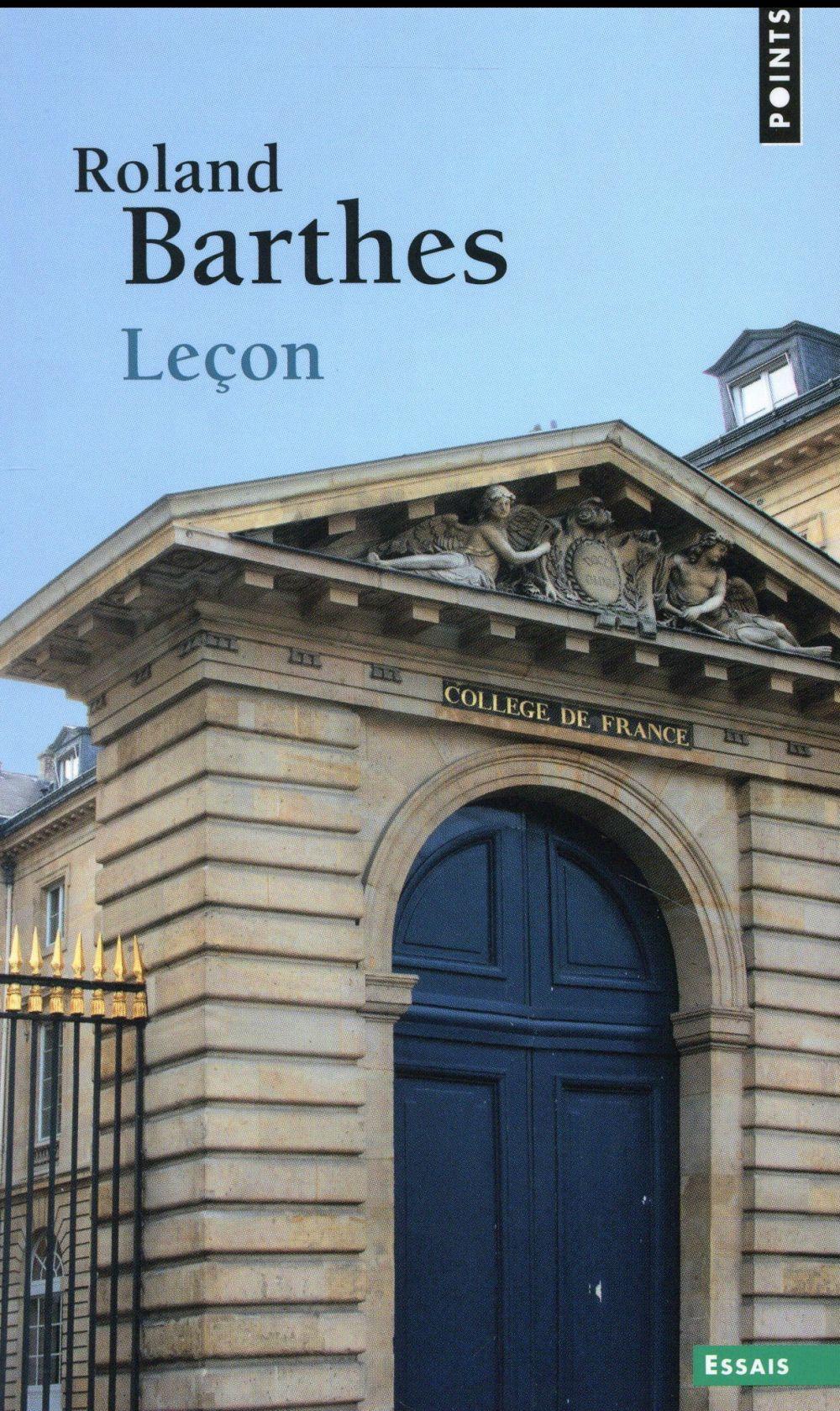 LECON. LECON INAUGURALE DE LA CHAIRE DE SEMIOLOGIE