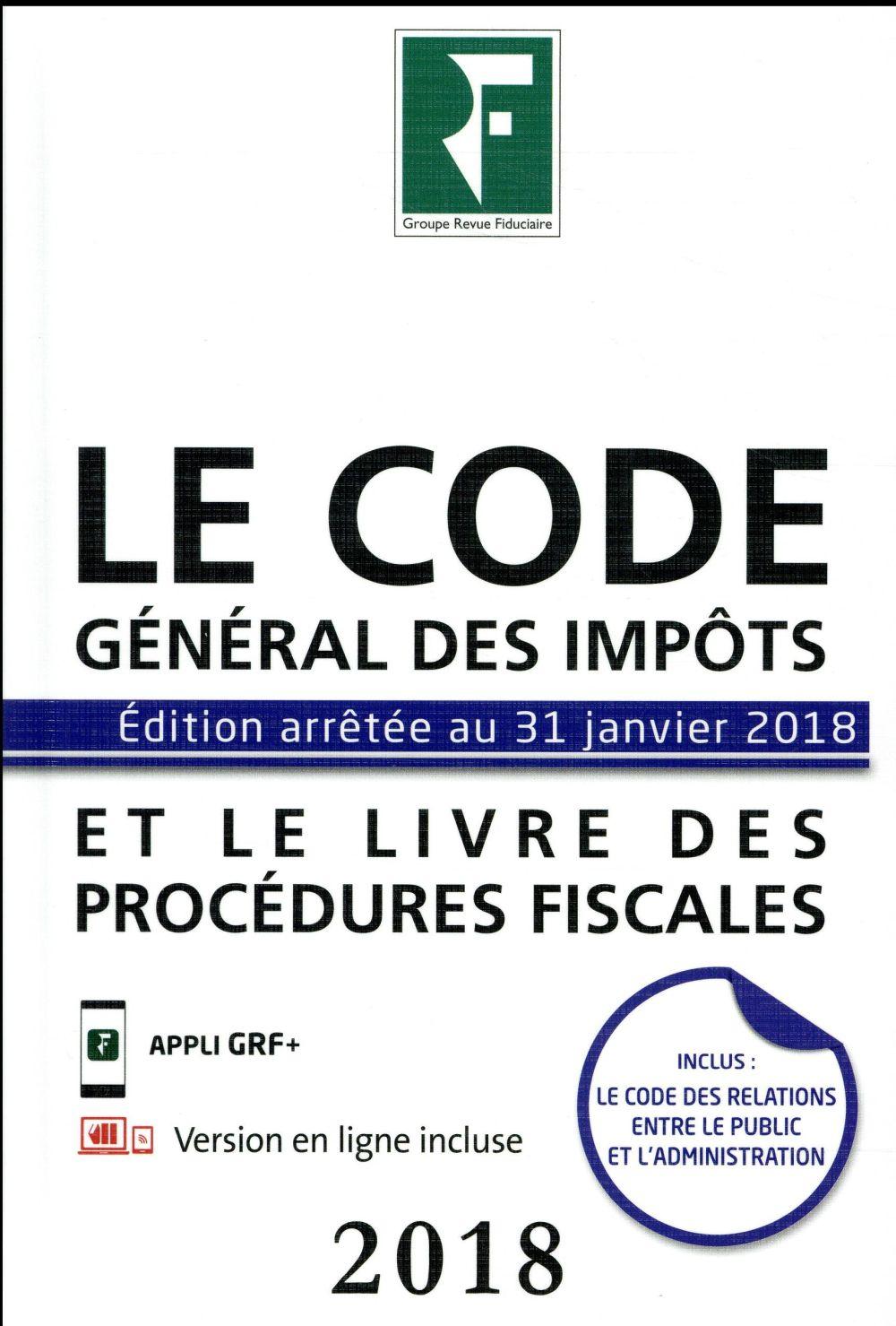 LE CODE GENERAL DES IMPOTS ET LE LIVRE DES PROCEDURES FISCALES 2018