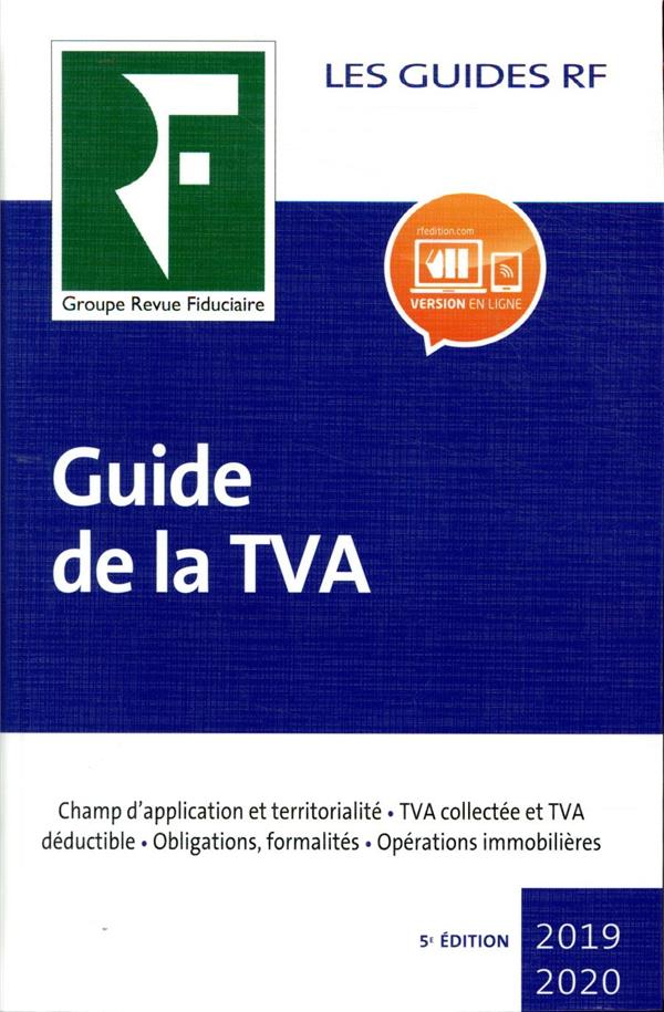 GUIDE DE LA TVA (EDITION 20192020)