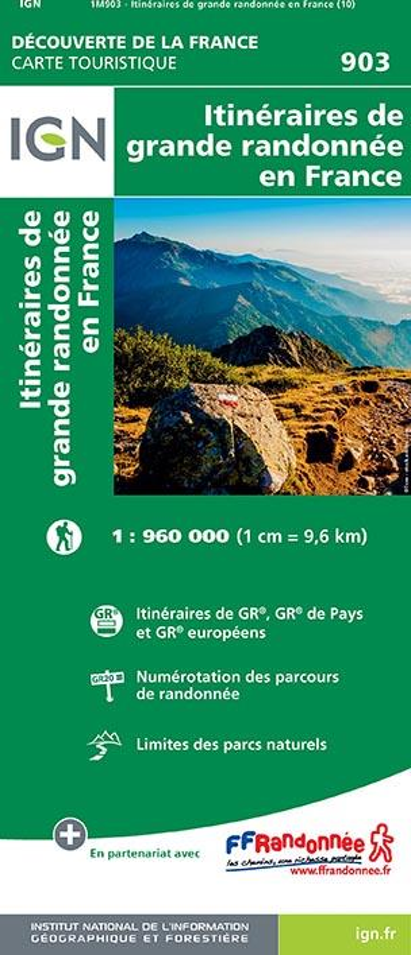 XXX - 1M903  -  ITINERAIRES DE GRANDE RANDONNEE EN FRANCE (10E EDITION)