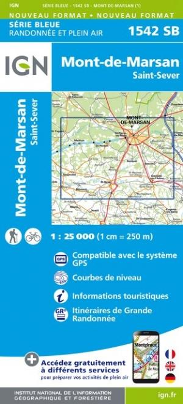 1542SB  -  MONT-DE-MARSAN, ST-SEVER (EDITION 2018) XXX MICHELIN