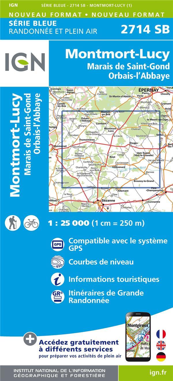 2714SB  -  MONTMORT-LUCY, MARAIS DE ST-GOND, ORBAIS-L'ABBAYE XXX MICHELIN