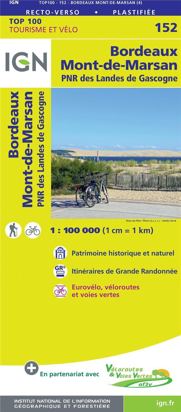 TOP100152  -  BORDEAUX, MONT-DE-MARSAN, PNR DES LANDES DE GASCOGNE (4E EDITION) XXX MICHELIN