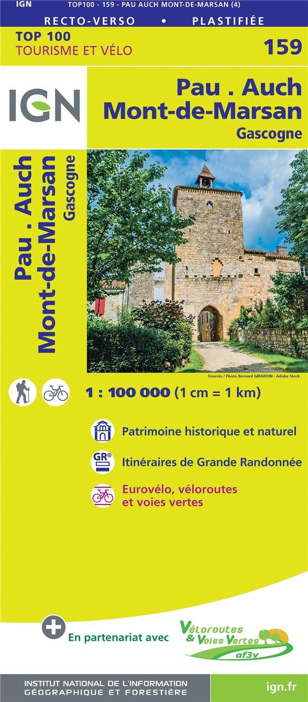 TOP100159  -  PAU, AUCH, MONT-DE-MARSAN, GASCOGNE (4E EDITION) XXX MICHELIN