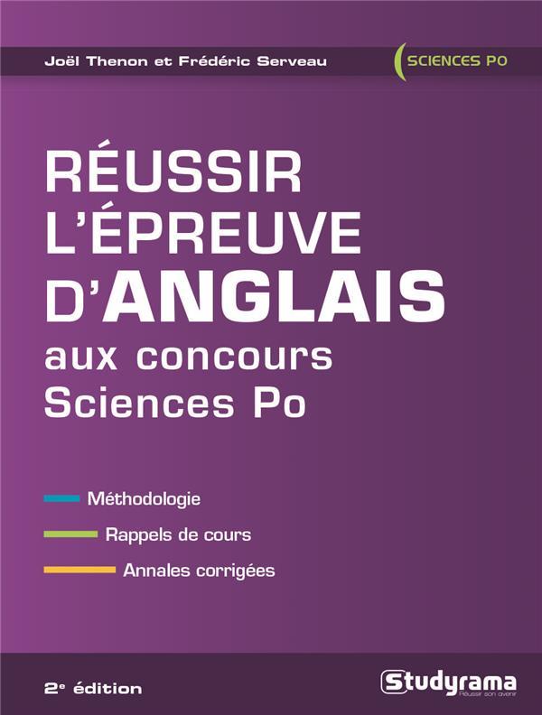 REUSSIR L'EPREUVE D'ANGLAIS AUX CONCOURS SCIENCES PO 2ED