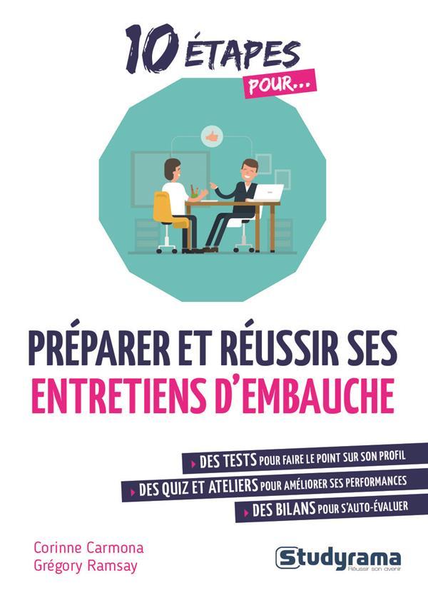 10 ETAPES POUR...     PREPARER ET REUSSIR SES ENTRETIENS D'EMBAUCHE