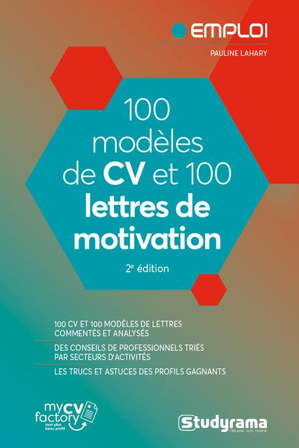 100 MODELES DE CV ET 100 LETTRES DE MOTIVATION LAHARY PAULINE STUDYRAMA
