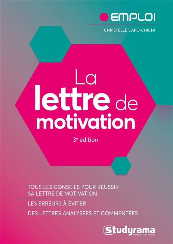 LA LETTRE DE MOTIVATION CAPO-CHICHI C. STUDYRAMA